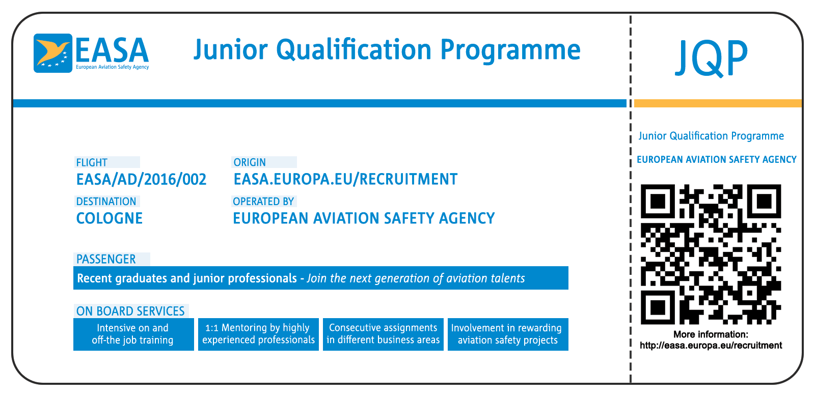 Junior Qualification Programme (JQP) - Boarding pass