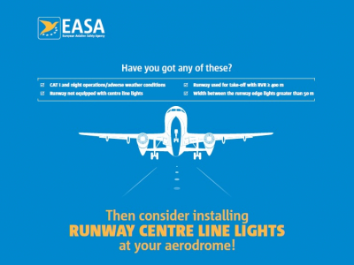 EASA runway centre line lights